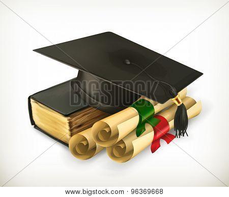 Education and Training, retro vector icon