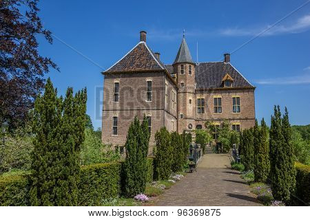 Front Of The Castle Of Vorden In Gelderland