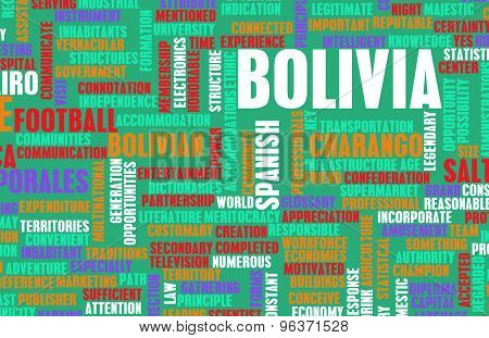 Bolivia as a Country Abstract Art Concept
