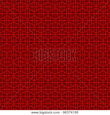 Seamless Chinese window tracery geometry pattern background.