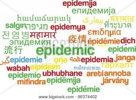 Background concept wordcloud multilanguage international many language illustration of epidemic