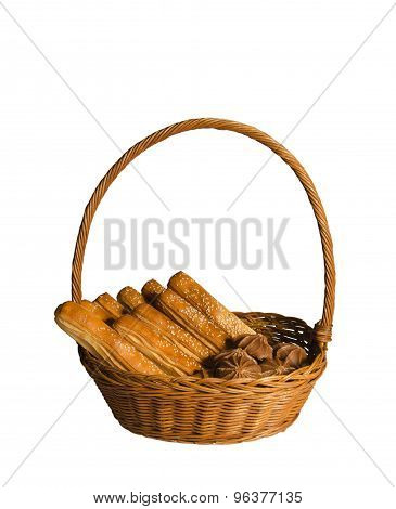Basket Of Bread And Sweets