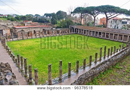 Ruins Of Ancient Roman City Of Pompei, Italy