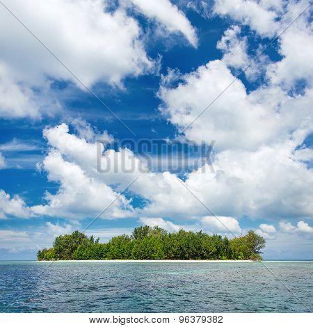 Beautiful uninhabited island at Karimunjawa archipelago, Indonesia