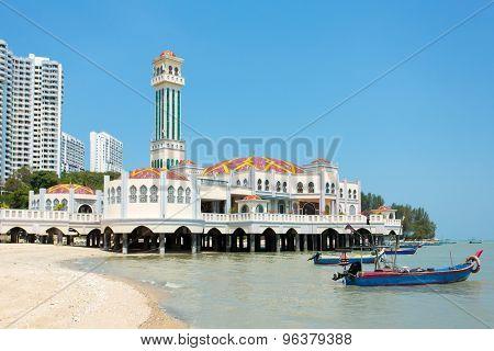 Floating mosque of Tanjung Bungah in Penang, Malaysia, Asia