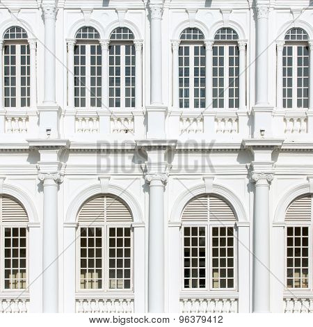 Architecture background. City Hall in George Town, Malaysia