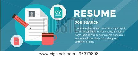 New Job Search. infographic. Recruitment, Office, Staff and Hire. Vector stocks illustration for des