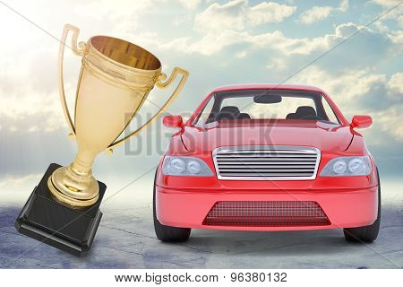 Red car and Cup