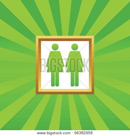 Two women picture icon