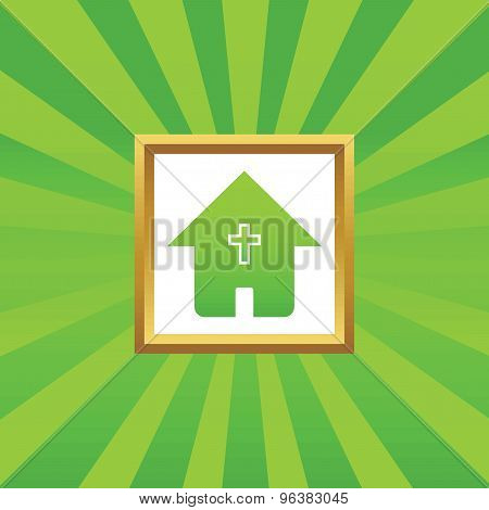 Christian house picture icon