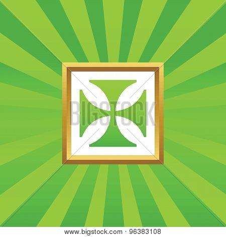 Maltese cross picture icon