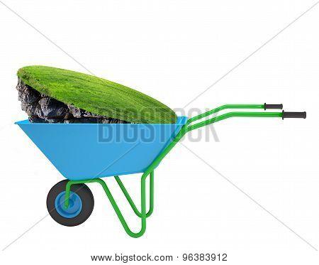 Green island in hand-barrow