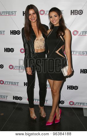 LOS ANGELES - JUL 17:  Madison Justice, Victoria Justice at the