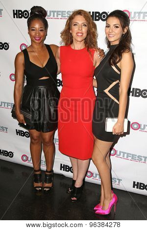 LOS ANGELES - JUL 17:  Monique Coleman, Kristin Hanggi, Victoria Justice at the