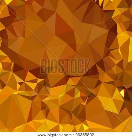 Dark Tangerine Yellow Abstract Low Polygon Background