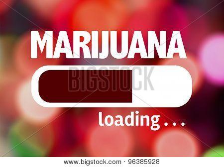 Progress Bar Loading with the text: Marijuana