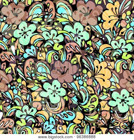 floral pattern green