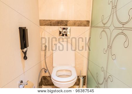 Modern interior of bathroom and toilet