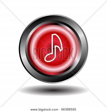 Musical note icon. Set of music notes vector