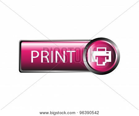 Print icon. Print button sign vector design
