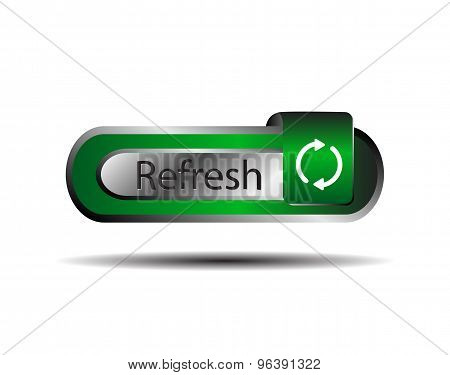 Refresh icon. Refresh button blue isolated vector