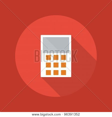 Business Flat Icon. Calculator