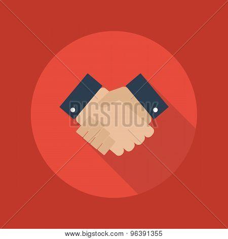 Business Flat Icon. Handshake