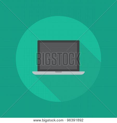 Technology Flat Icon. Laptop