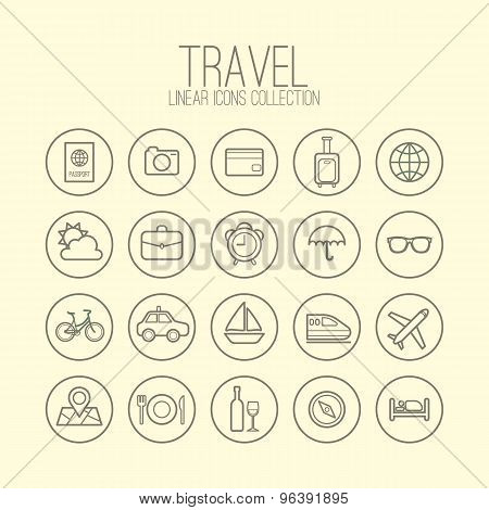 Travel Linear Icons