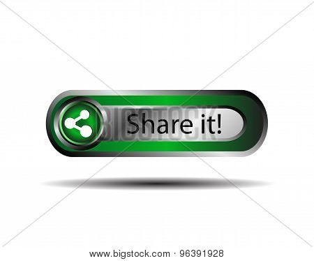 Share icon button sign vector. Share it icon