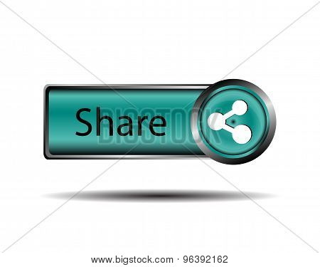 Share Vector label. Share icon button sign vector