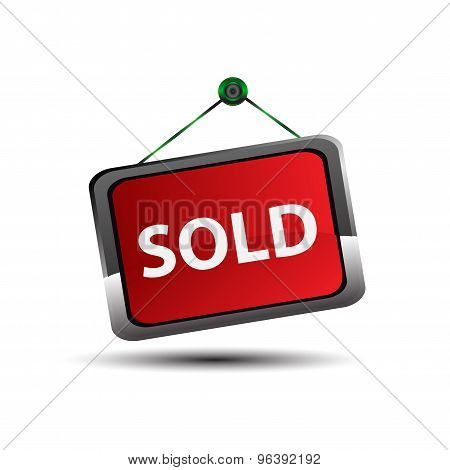 Sold sign Vector. Sold out signs label