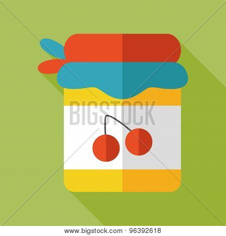 Jam Flat  Icon With Long Shadow