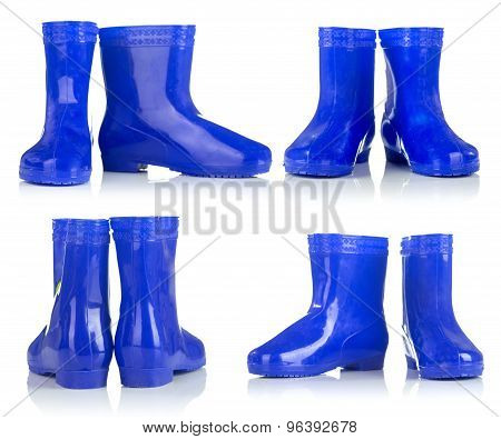 Blue Rubber Boots For Kids