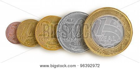 Brazilian real coin Line