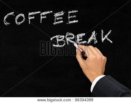 Coffee Break Blackboard Writing