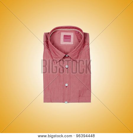 Nice male shirt against the gradient