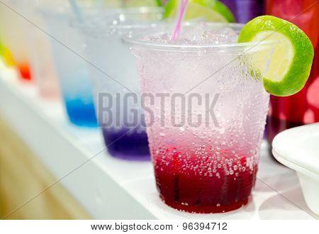 Row of Italian Soda Drinks