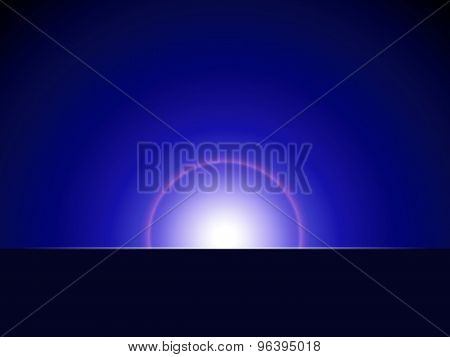 Abstract Ray Of Lights Over Dark