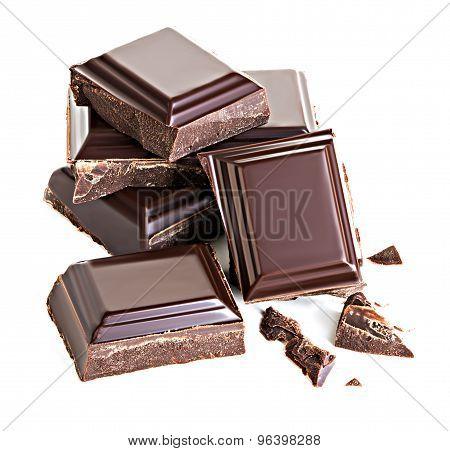 Chocolate Isolated On White Background