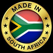 Постер, плакат: South Africa Made In Badge