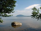 stock photo of moosehead  - view from the shore of moosehead lake maine - JPG