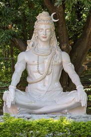 stock photo of shiva  - Shiva statue in Rishikesh India - JPG