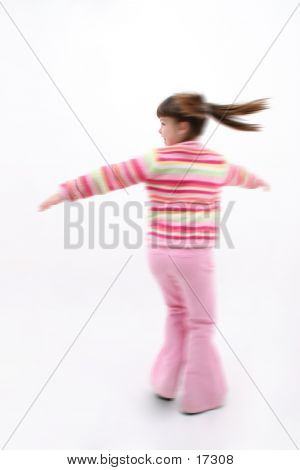Child Spinning With Motion Blur