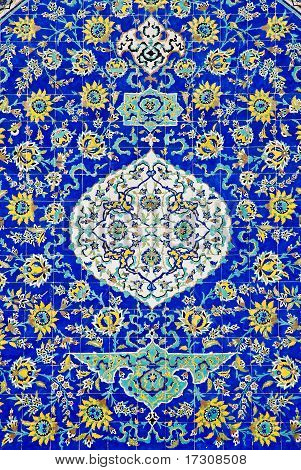 Ceramic Painted Art Tiles Esfahan Iran