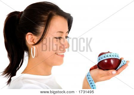 Beautiful Girl With An Apple