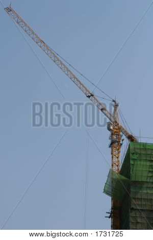 Crane And Building