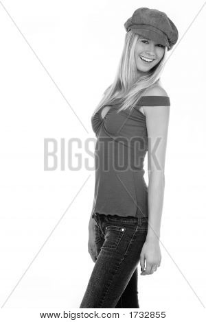 Happy Casual Young Woman