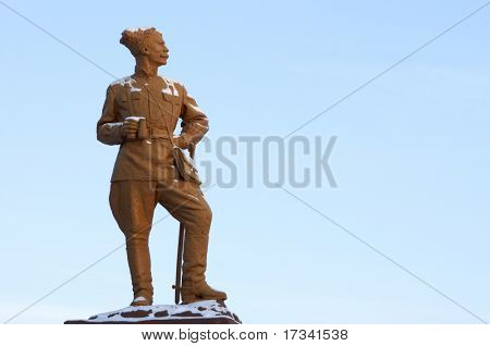 monument for russian hero Chapaev