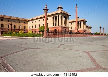 North Block Of The President House In Delhi